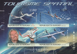 Spacial Tourism Imperforated Sov. Sheet of 4 Stamps MNH