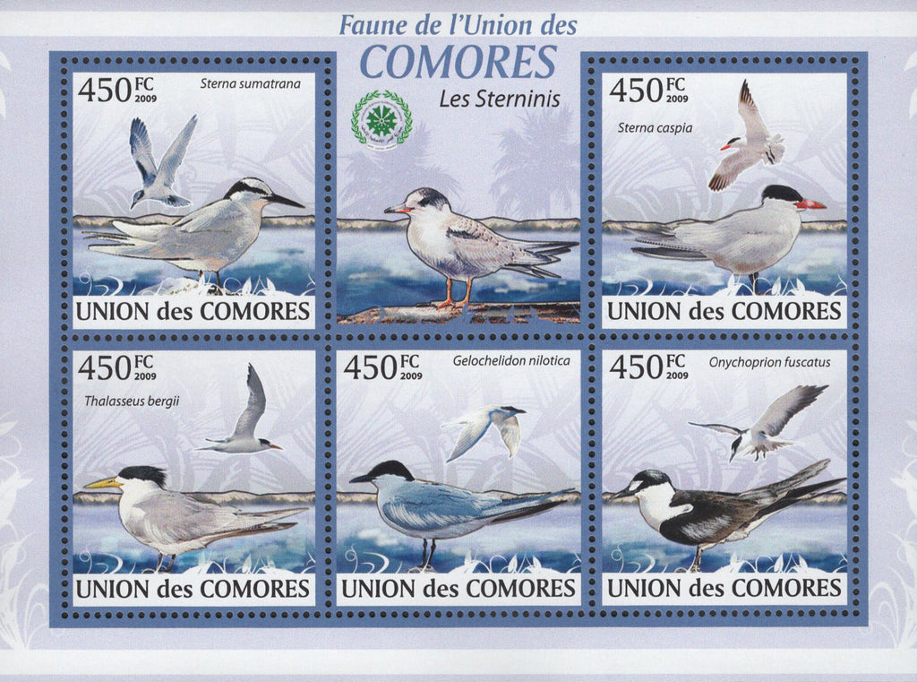 Sterninis Birds Ocean Marine Sov. Sheet of 5 Stamps MNH