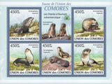 Fauna Subantarctic Fur Seals Sov. Sheet of 5 Stamps MNH