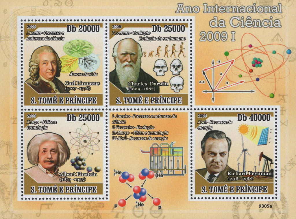 São Tomé and Príncipe Science International Year Sov. Sheet of 4 Stamps MNH