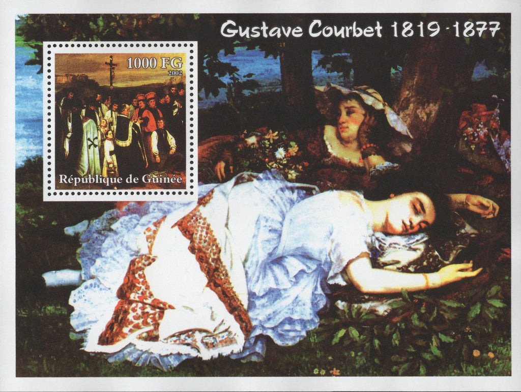 Gustave Courbet Famous Paintings Souvenir Sheet Mint NH