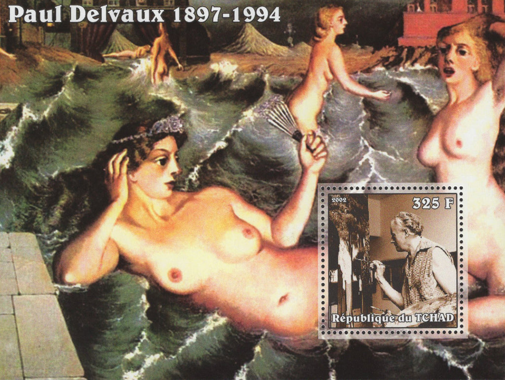 Paul Delvaux Famous Painter Waves Women Souvenir Sheet Mint NH