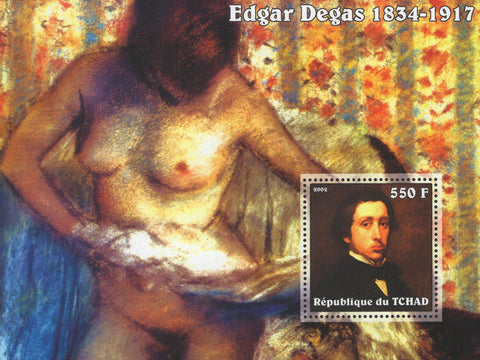 Famous Painter Edgar Degas Art France Souvenir Sheet MNH