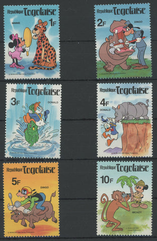 Disney Stamps Wild Animals Safari Serie Set of 6 Stamps Mint NH