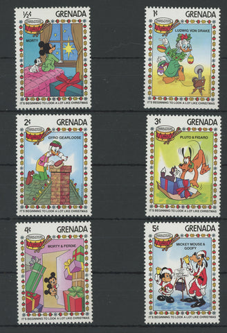 Grenada Disney Stamps It's Beginning to Look a Lot Like Christmas Serie Set of 6