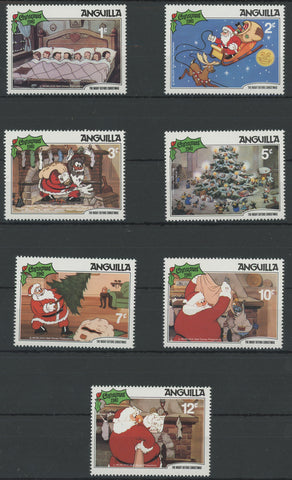Anguilla Disney Stamps The Night Before Christmas Serie Set of 7 Stamps Mint NH