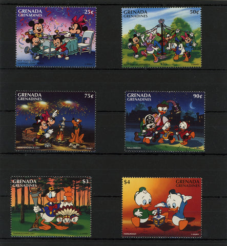 Grenada Disney Stamps Holiday Celebration Serie Set of 6 Stamps Mint NH