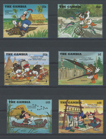Disney Stamps Tribe Donald Mickey Serie Set of 6 Stamps Mint NH