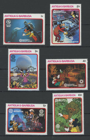Antigua Disney Stamps Walt Disney World Serie Set of 6 Stamps Mint NH