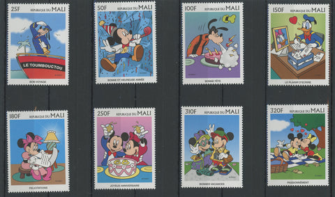 Mali Disney Stamps Celebration Holiday Vacation Serie Set of 8 Stamps Mint NH