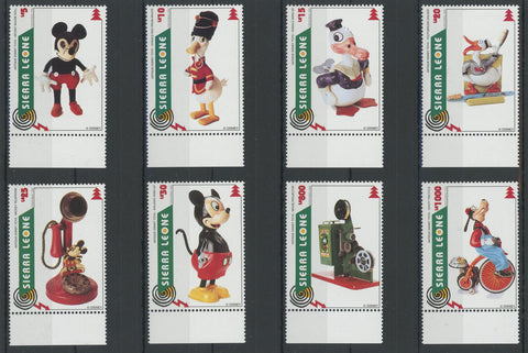 Sierra Leone Disney Stamps Antique Disney Toys Serie Set of 8 Stamps Mint NH