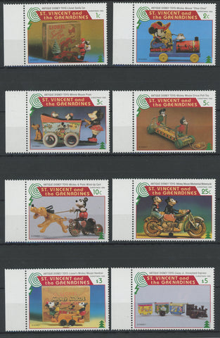 St. Vincent Disney Stamps Antique Disney Toys Serie Set of 8 Stamps Mint NH