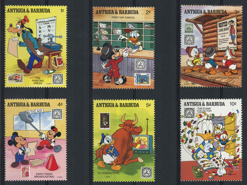 Disney Stamps American Philatelic Serie Set of 6 Stamps Mint NH