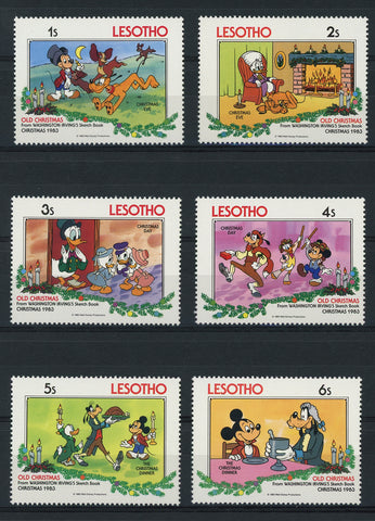 Lesotho Disney Stamps Old Christmas Serie Set of 6 Stamps Mint NH