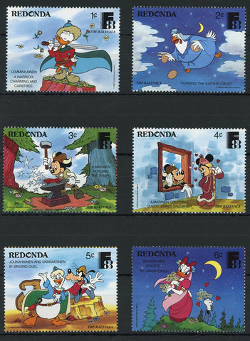 Redonda Disney Stamps The Kalevala Poetry Serie Set of 6 Stamps Mint NH
