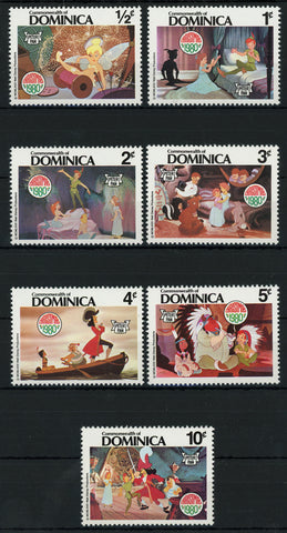 Dominica Peter Pan Stamps Spaceship Planet Astronaut Serie Set of 6 Stamps Mint