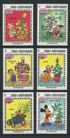 Turks and Caicos Christmas 1983 Serie Set of 6 Stamps Mint NH