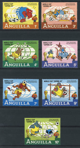 Disney Stamps World Cup Spain 82 Sport Serie Set of 7 Stamps Mint NH