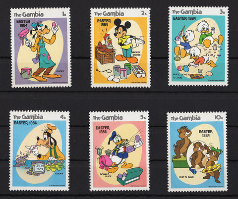 Disney Stamps 1984  Set of 6 Stamps MNH