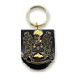 Montecinos Metal Key Chain with the traditional Coat of Arms of Montecinos Famil