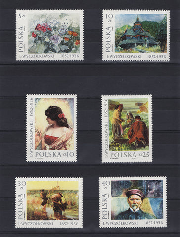 Poland 1987 Wyczolkowski Painting Stamps - Mint MNH Complete Set Of 6 Stamps (Sc