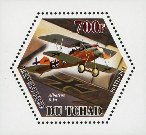 World War I Airplane Plane Albatros D. Va Mini Souvenir Sheet Mint NH