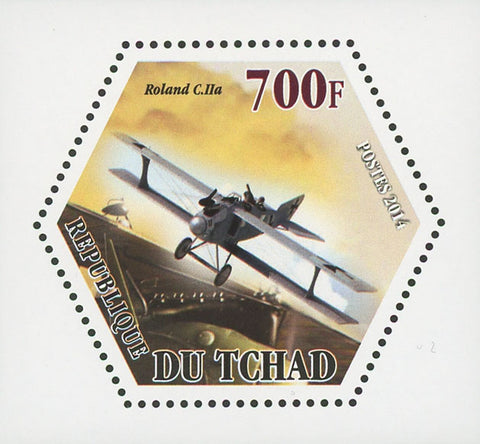 World War I Airplane Plane Rolland C.IIa Mini Souvenir Sheet Mint NH