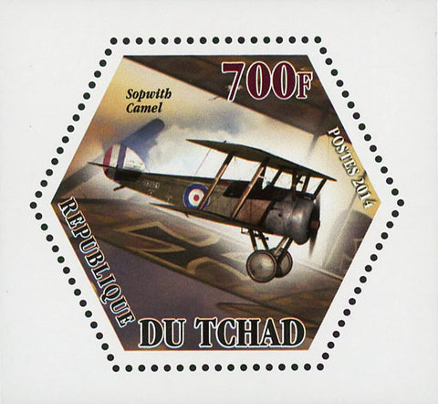 World War I Airplane Plane Sopwith Camel Mini Souvenir Sheet Mint NH