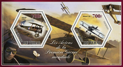 World War I Airplane Plane Sopwith Roland Souvenir Sheet Mint NH