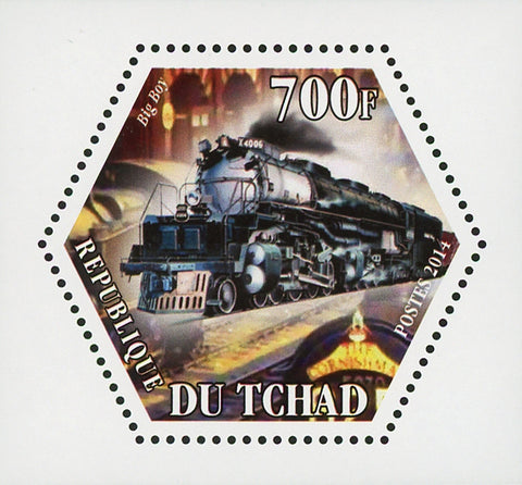 World Locomotive Big Boy Transportation Mini Souvenir Sheet Mint NH