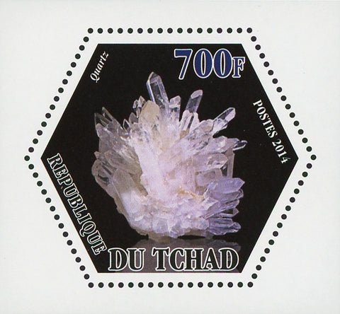 Mineral Quartz Crystal Mini Souvenir Sheet Mint NH