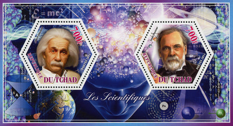 Scientific Famous Einstein Pasteur Souvenir Sheet of 2 Stamps Mint NH