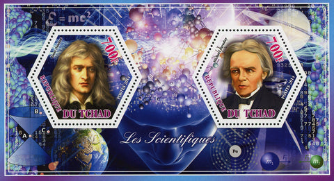Scientific Famous Newton Faraday Souvenir Sheet of 2 Stamps Mint NH