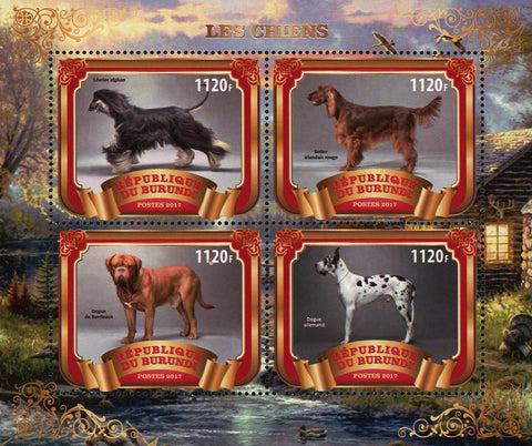 Dog Forest Souvenir Sheet of 4 Stamps Mint NH