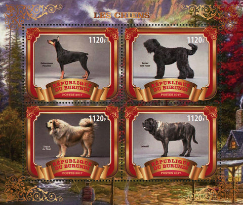 Dog Forest Animal Souvenir Sheet of 4 Stamps Mint NH