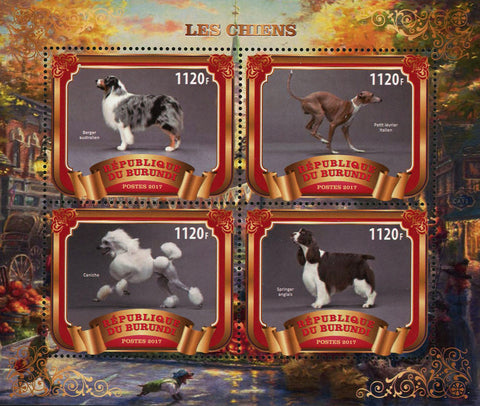 Dog Forest Domestic Animal Souvenir Sheet of 4 Stamps Mint NH