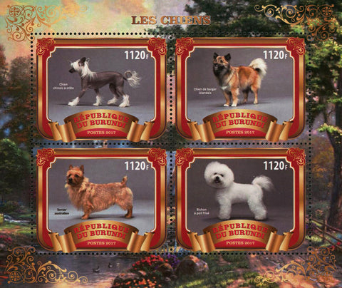 Dog Domestic Animal Souvenir Sheet of 4 Stamps Mint NH
