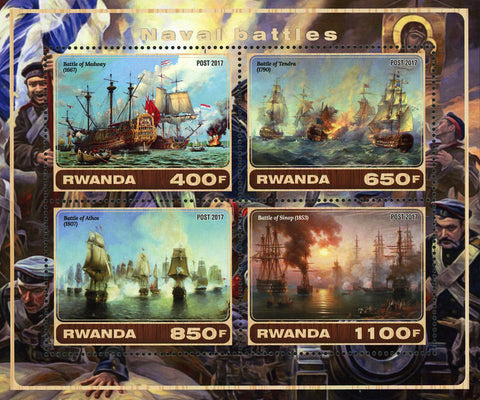 Naval Battle Tendra Athos Souvenir Sheet of 4 Stamps Mint NH