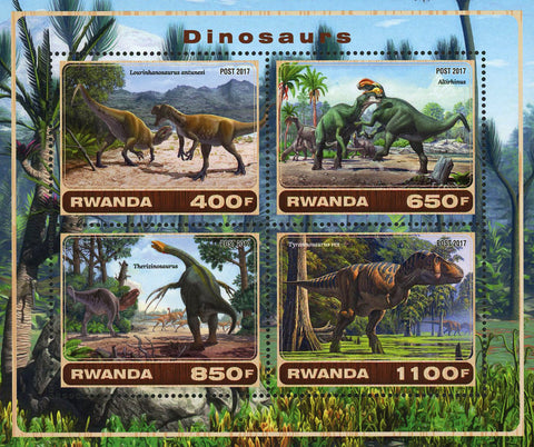 Dinosaur Tyrannosaurus Rex Pre Historic Souvenir Sheet of 4 Stamps Mint NH