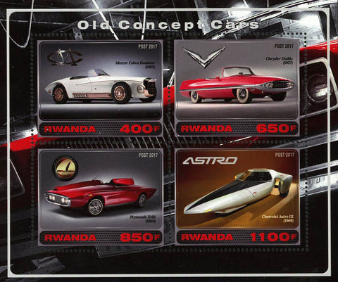 Old Concept Car Astro Souvenir Sheet of 4 Stamps Mint NH