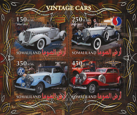 Vintage Car Auburn 851 Souvenir Sheet of 4 Stamps Mint NH
