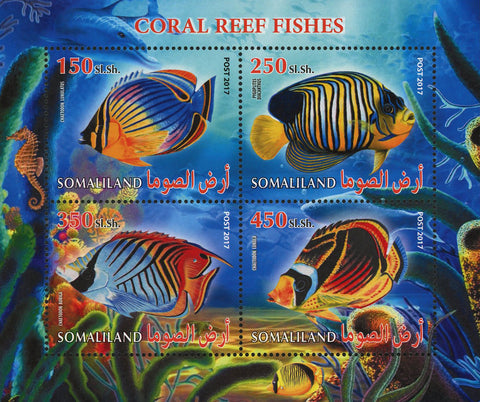 Coral Reef Fish Souvenir Sheet of 4 Stamps Mint NH