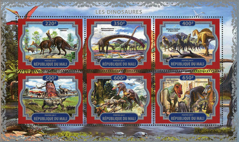 Dinosaur Pre Historic Animal Nature Souvenir Sheet of 6 Stamps Mint NH