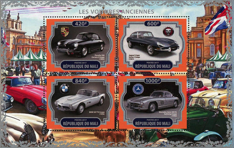 Antique Car Classic Porsche 356 Transportation Souvenir Sheet of 4 Stamps Mint NH