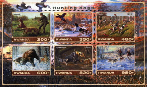 Hunting Dog Forest Nature Souvenir Sheet of 6 Stamps Mint NH