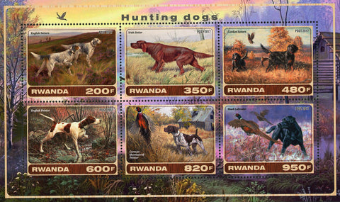 Hunting Dog English Setters Nature Souvenir Sheet of 6 Stamps Mint NH