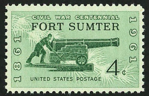 USA American Civil War Centennial Fort Summer Individual Stamp Mint NH