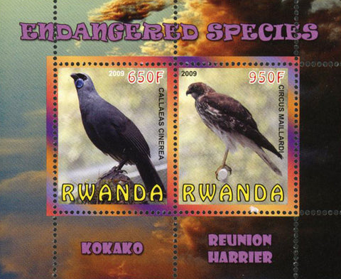 Endangered Species Bird Kokako Souvenir Sheet of 2 Stamps Mint NH