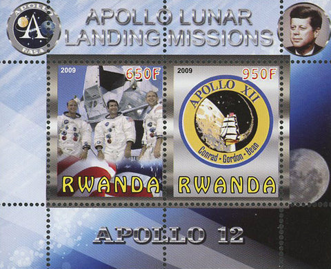 Apollo 12 Lunar Landing Missions Souvenir Sheet of 2 Stamps Mint NH