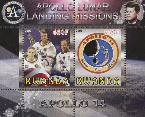 Apollo 14 Lunar Landing Missions Souvenir Sheet of 2 Stamps Mint NH